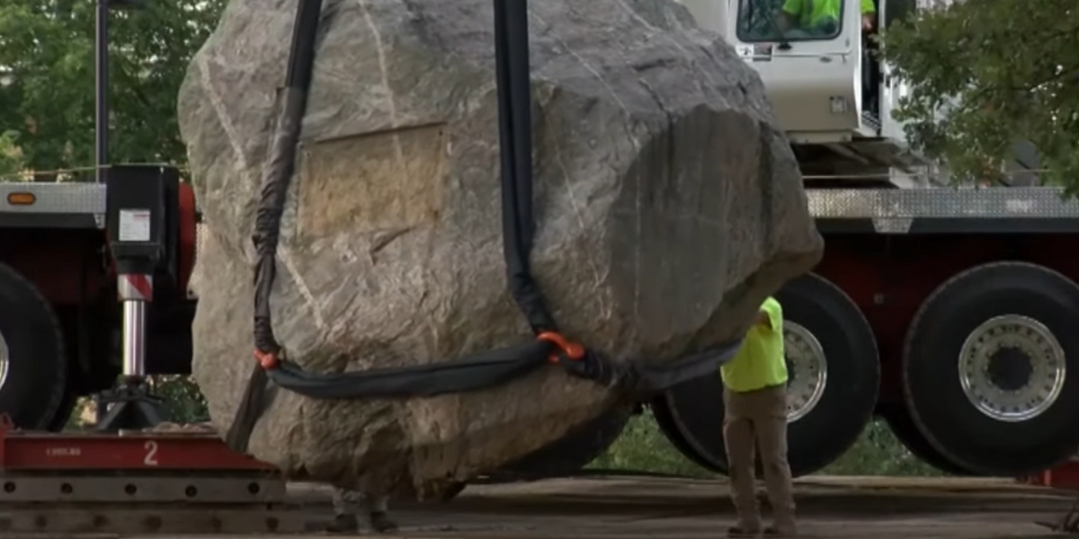University of Wisconsin removes boulder from campus after students say the rock is 'symbol of racism,' citing one news article from 1925